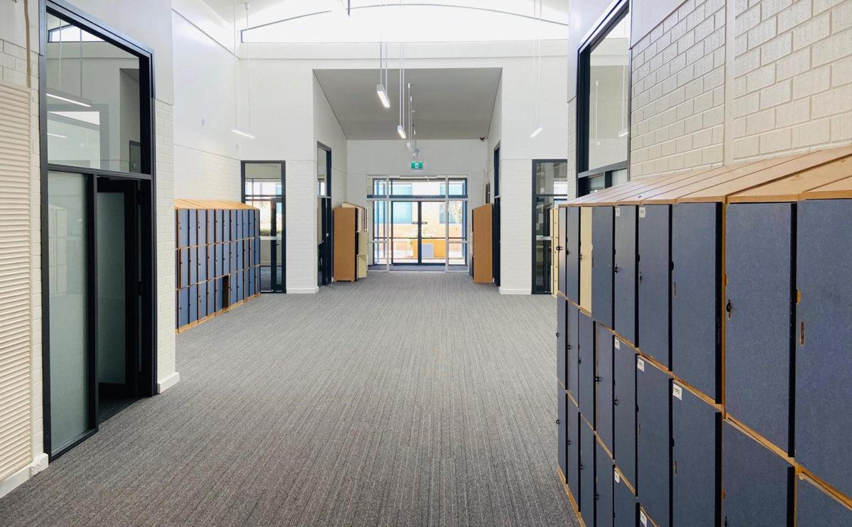 A well organized and clean shelf corridor